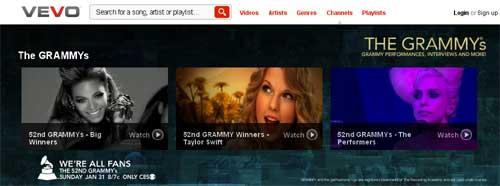 Vevo Launches Grammy Channel