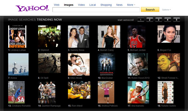Yahoo Updates Image, Video Search With Visual Trends