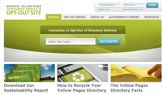 The Yellow Pages Launches Opt-Out Website