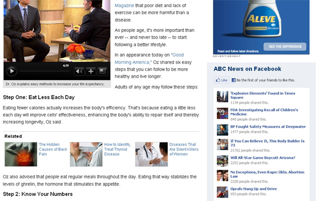 ABC News uses Facebook plugins for increased referrals