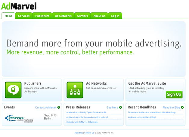 Opera Scoops Up Mobile Advertising Firm AdMarvel
