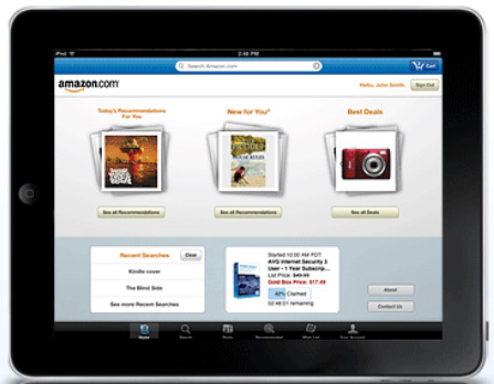 Amazon iPad App Now Available