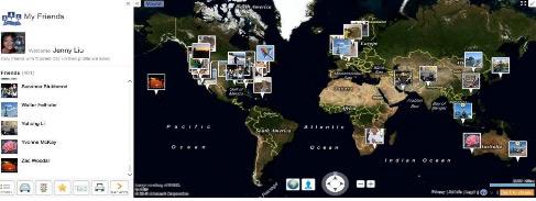 Bing Maps Facebook app