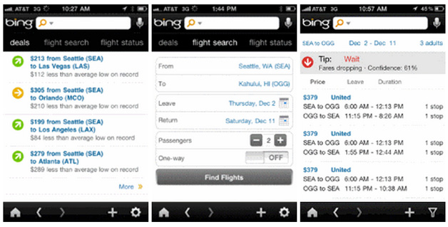 Bing for Mobile for iPhone gets update with new travel features