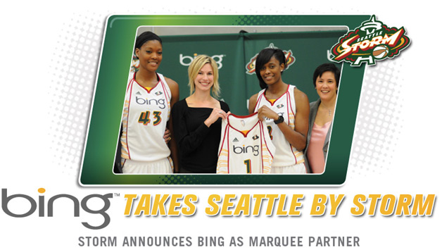 Bing to Appear on Women's Basketball Jerseys