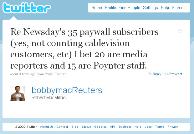 Newsday Pay Wall Nets 35 Subscribers in 3 Months