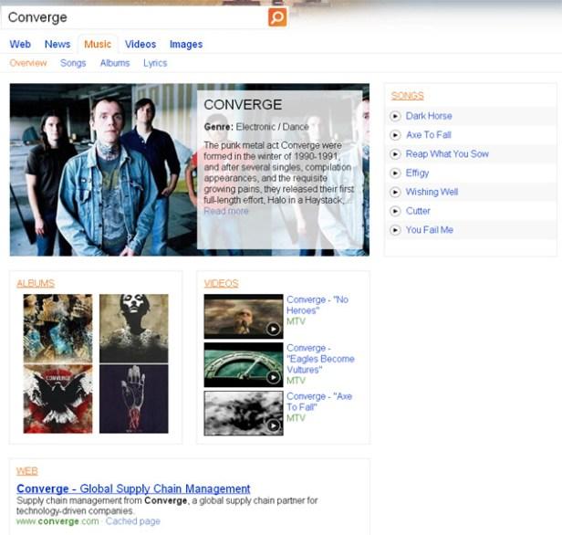 Converge on Bing
