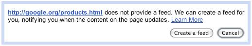 Custom Feeds from Google Reader