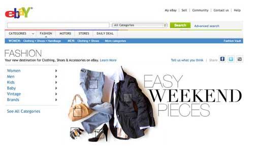 eBay Launches Fashion Microsite
