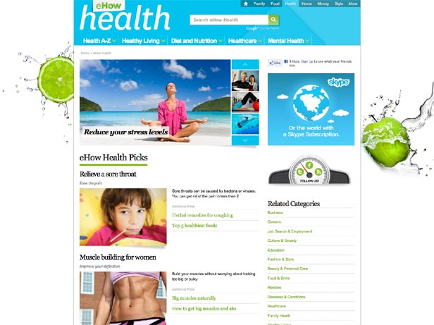 eHow Redesign from Demand Media