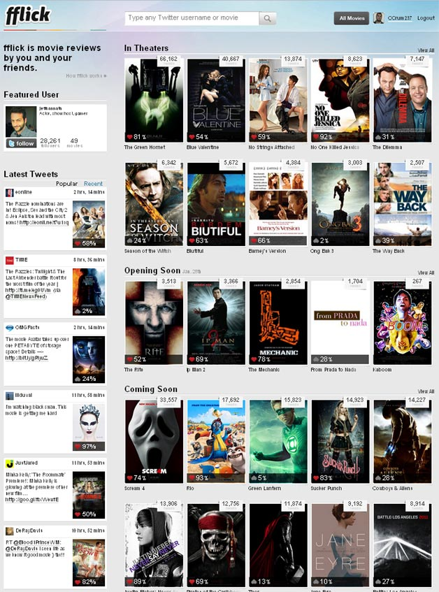fflick - see what you friends are saying about the movies