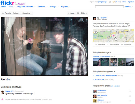 Flickr Photo Pages Get a Change in Design