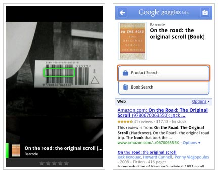 Google Goggles Gets Better at Barcode Scanning