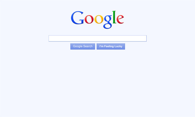 Google Blue Homepage Redesign prototype