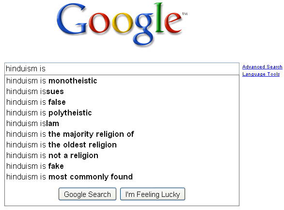 Google - Hinduism is