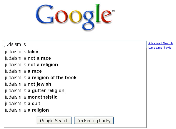 Google - Judaism is