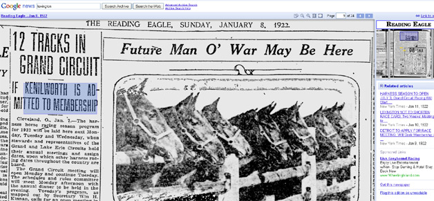 Google News Archive has old newspapers