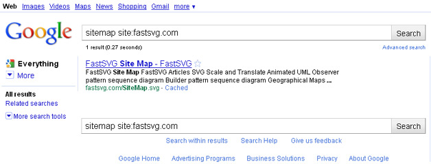 Google Indexes SVGs
