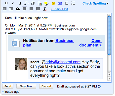Google Docs Upgrades Commenting