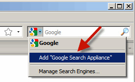 Using Google Search Appliance from the Browser