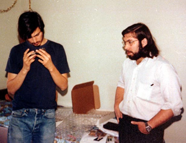 Steve Jobs and Steve Wozniak in the early days