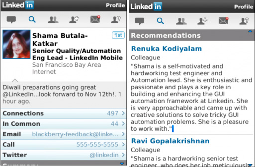 LinkedIn Stays Current for BlackBerry-Using Business Professionals