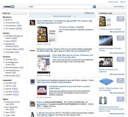 LinkedIn Signal - New realtime stream sorting feature