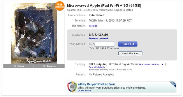 Watch an iPad 3G Get Microwaved