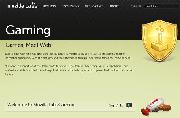 Mozilla Labs Gets Into Gaming