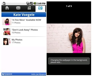 MySpace  Mobile on Android is the most popular app in the Android Market's social category