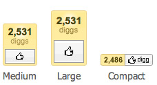 New Digg Buttons launched - keep traffic with publisher