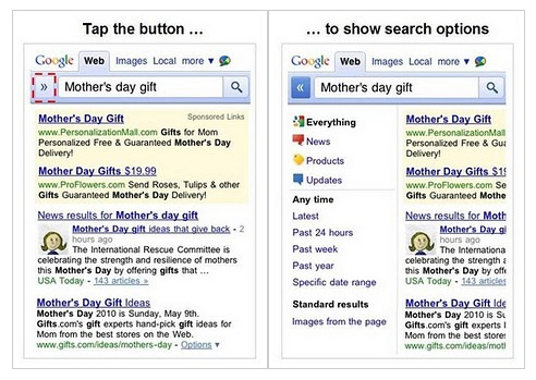 New Google SERPs also on mobile