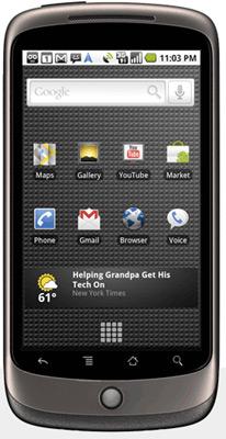 "Google Unveils Nexus One ""Super Phone"""