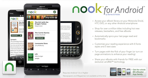 Barnes & Noble Launches Nook Android App
