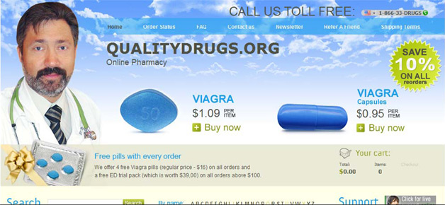 Fraudulent pharmacy sites allegedly hosted on enom domains