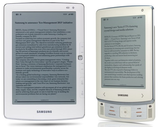 Samsung Unveils First E-Readers at CES