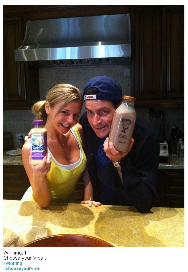 Charlie Sheen's first Twitpic