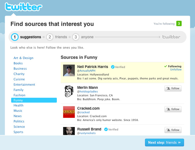 Suggested Users on Twitter