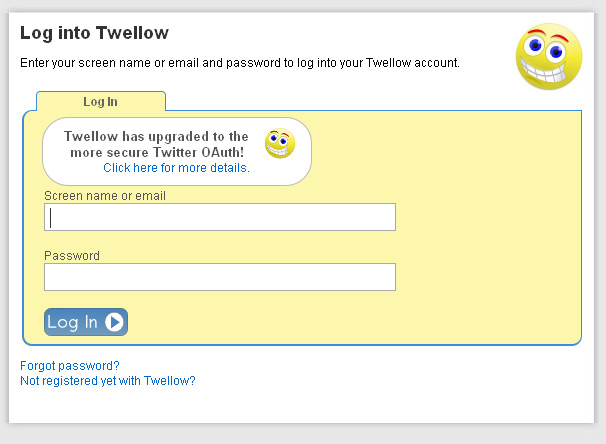 Twellow Gets Twitter OAuth Support