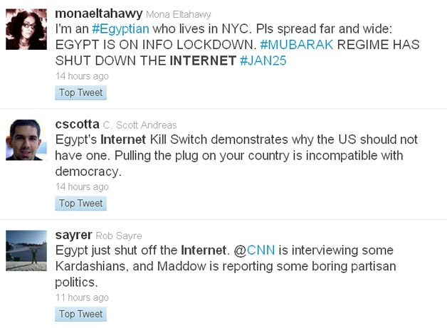 Twitter Conversation about Egypt