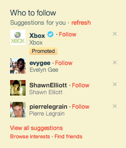 Advertisers Pay Twitter to Get Suggested with Promoted Accounts