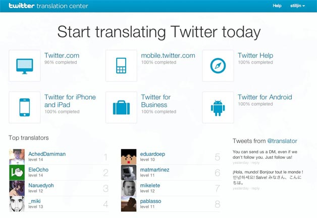 Twitter Translation Center launches