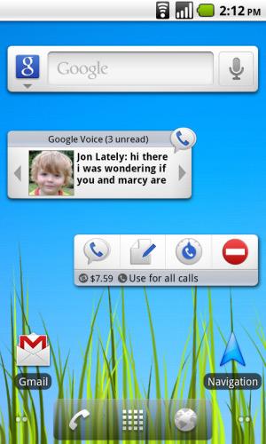 Google Voice Android Widget