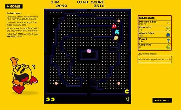 World's Biggest Pac-Man game
