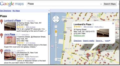Google Place Pages