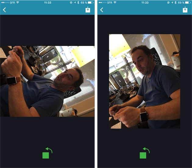 LiveRotate vient combler cet oubli : n'importe quelle LivePhoto peut être pilotée, tout en conservant les deux composantes, la photo et la vidéo.