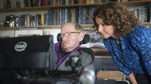 Stephen Hawking a Lama Nachmanová, hlavní inženýrka Intelu