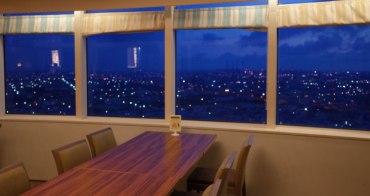 台中梧棲夜景推薦 童綜合25樓旋轉餐廳  丹堤咖啡館 360度海景盡收眼底