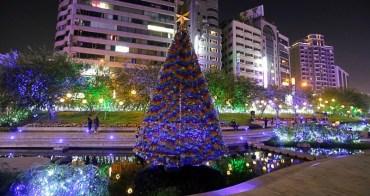 台中景點推薦 柳川水岸步道賞水中聖誕樹、耶誕節散策、漫步IG打卡熱點,台中夜景限定!