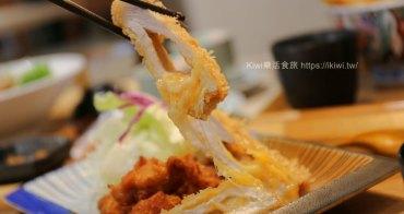 台中樹太老日本定食中科店|平價日式起司豬排炸雞定食牽絲的好銷魂,免費續越光米白飯、高麗菜絲、小菜、味噌湯吃到飽推薦